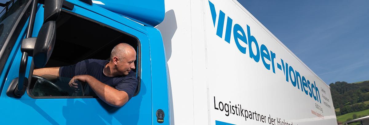 Wir transportieren Ihre Güter sicher und kompetent. Weber-Vonesch: Wir transportieren Ihre Güter sicher und kompetent.